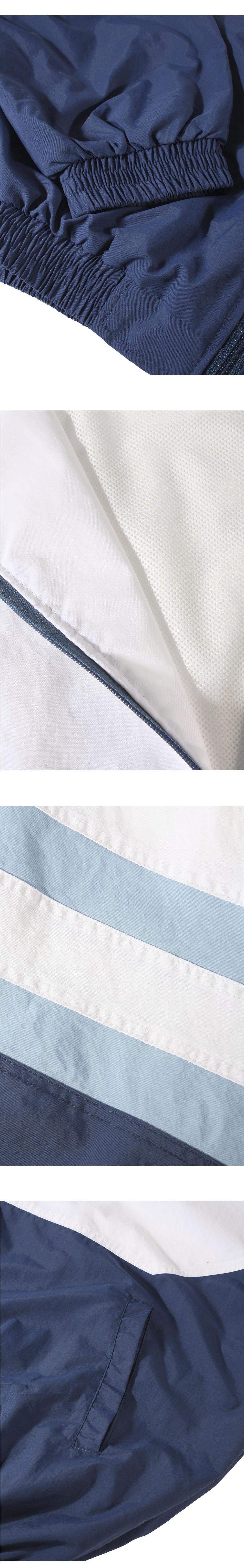 뉴트로 컬러 라인 트랙 자켓 화이트
